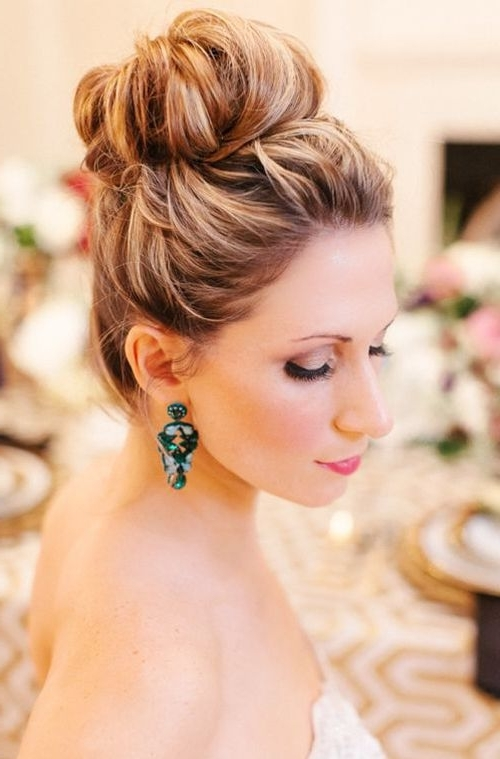 High Updo Wedding Hairstyle For Long Hair | Hair – Buns | Pinterest Throughout Current Bridal Bun Updo Hairstyles (View 2 of 15)