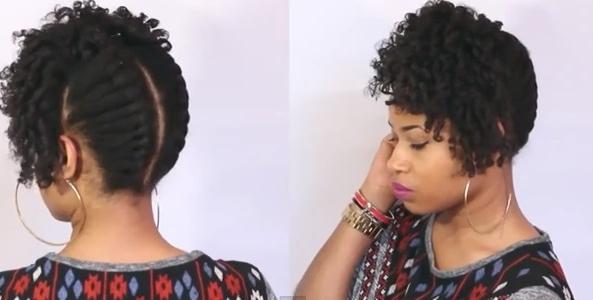 Holiday Natural Hairstyle For Short And Medium Length Hair   Black Naps Regarding Most Popular Natural Hair Updos For Medium Hair (View 4 of 15)