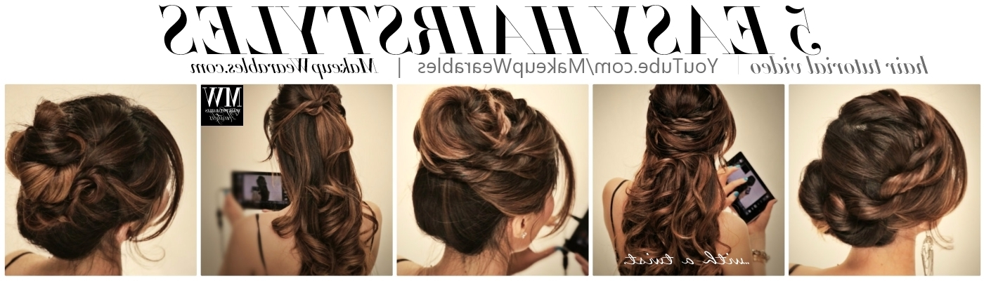 How To: 5 Amazingly Cute + Easy Hairstyles With A Simple Twist Pertaining To Most Current Easy Long Hair Updo Everyday Hairstyles (View 14 of 15)