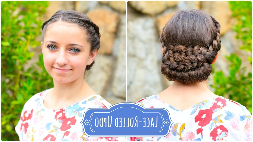 How To Create A Lace Rolled Updo | Cute Girls Hairstyles For Newest Cute Girls Updo Hairstyles (View 3 of 15)
