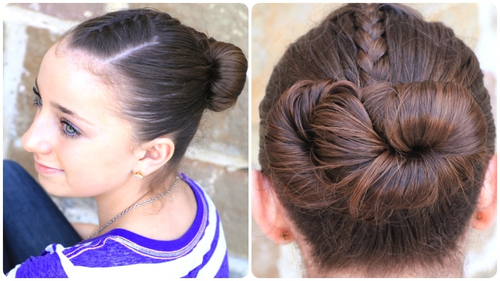 How To Create An Infinity Bun | Updo Hairstyles | Cute Girls Hairstyles For Most Recently Cute Updo Hairstyles (View 7 of 15)
