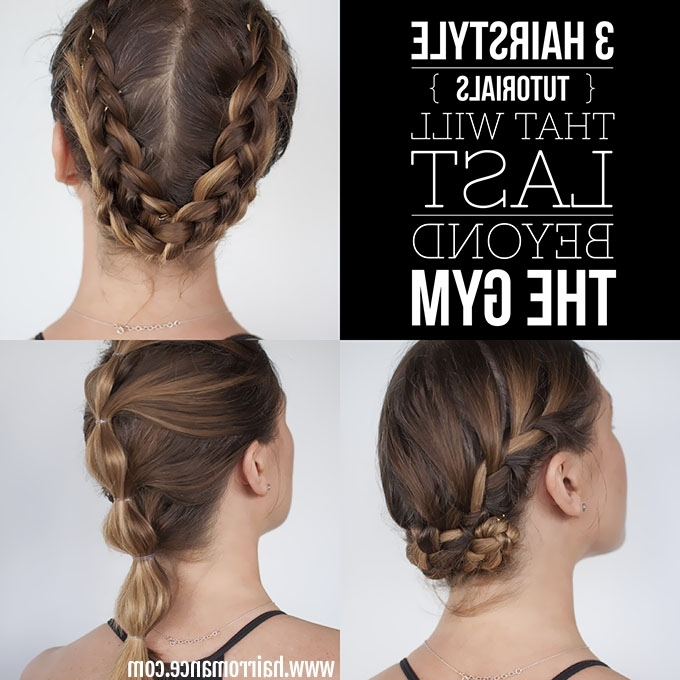 How To Look Good While You Workout – 3 Long Lasting Hairstyle With Most Popular Sporty Updo Hairstyles For Short Hair (View 12 of 15)