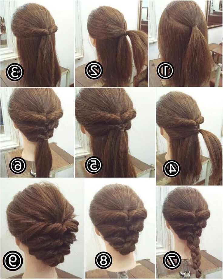 How To Make Hairstyles For Long Hair At Home Best 25 Easy Updo Ideas Throughout Most Current Easiest Updo Hairstyles For Long Hair (View 14 of 15)