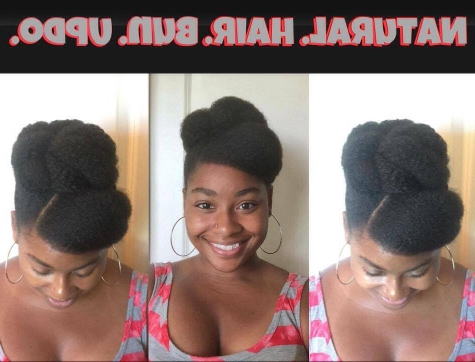 How To: Natural Hair 4C Bun Updo | Protective Styling (As Told Regarding Most Popular Natural Updo Bun Hairstyles (View 12 of 15)