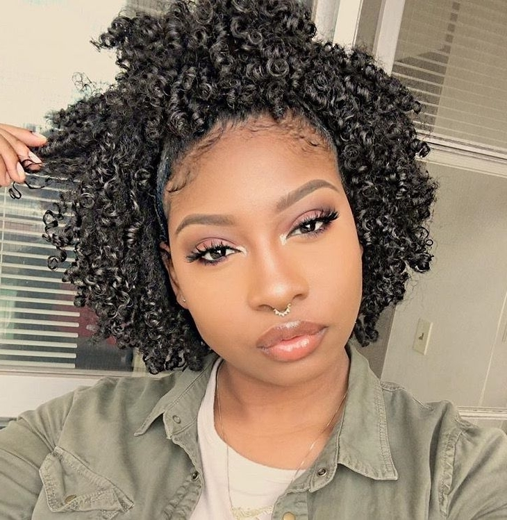How To Style Naturally Curly African American Hair Best 25 Natural Within Most Current Natural Curly Updos For Black Hair (View 8 of 15)