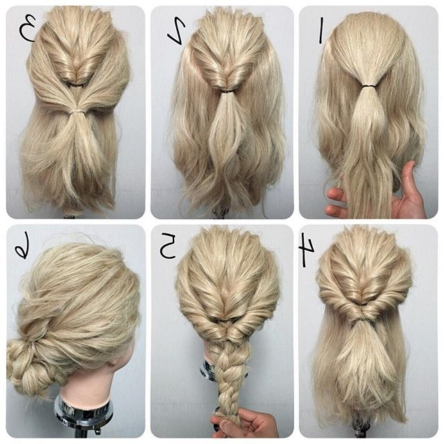 Ideas And Decor | Women | Pinterest | Hair Style, Makeup And Hair Makeup Intended For Current Easiest Updo Hairstyles (View 13 of 15)