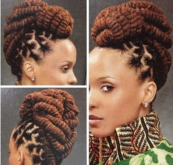 Image Result For Dreadlock Styles For Women | Loc Styles | Pinterest Inside Most Recently Lock Updo Hairstyles (View 2 of 15)