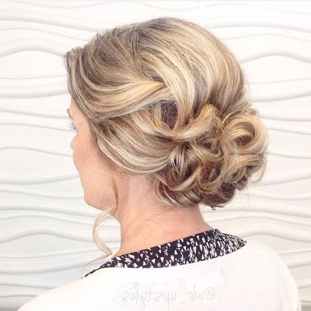 15 Photos Updo Hairstyles For Mother Of The Bride Medium Length Hair
