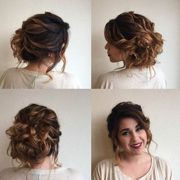 Image Result For Romantic Low Curly Buns | Low Curly Buns For Best And Newest Casual Updos For Curly Hair (View 9 of 15)