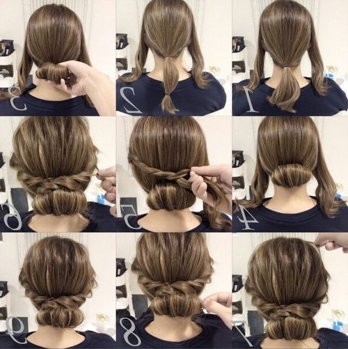 Imagem Através Do We Heart It #hair #hairstyle #tutorial Pertaining To Most Up To Date Quick Easy Updo Hairstyles For Short Hair (View 9 of 15)