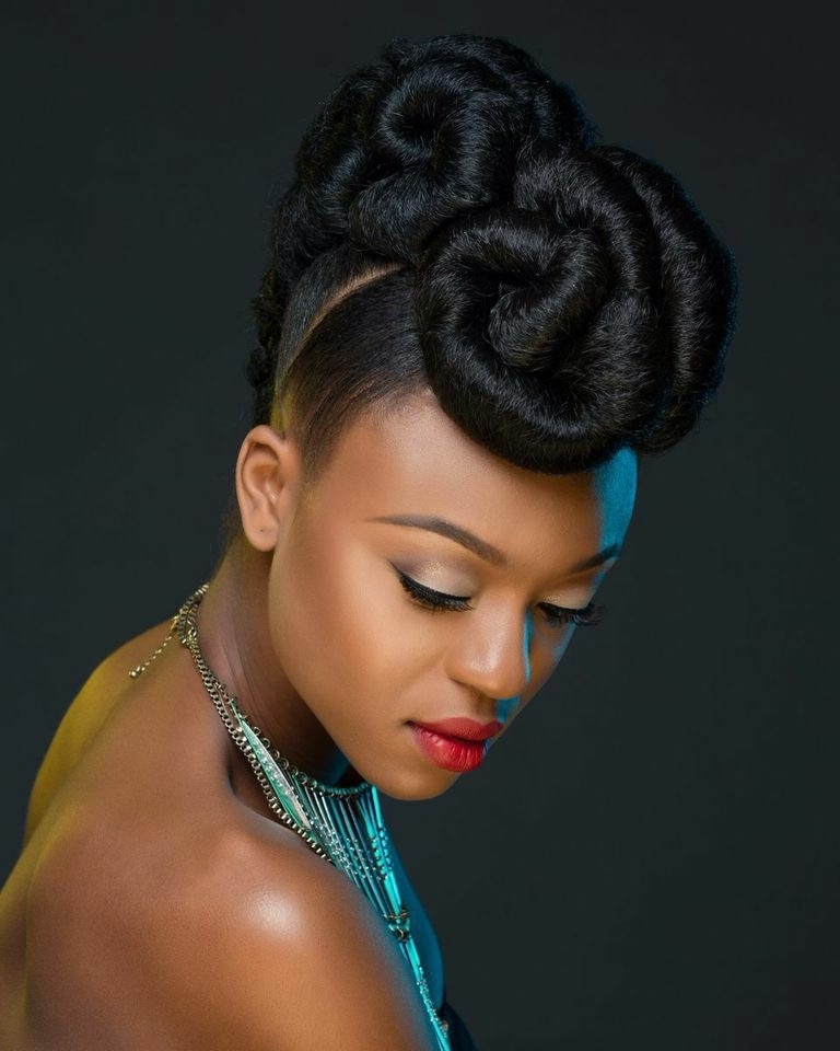 Img 4151 | Lovely Hair | Pinterest Inside Most Recent Updo Hairstyles With Weave (View 8 of 15)
