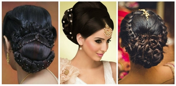 Indian Wedding Hairstyles For Mid To Long Hair Regarding Most Up To Date Indian Wedding Updo Hairstyles (View 10 of 15)