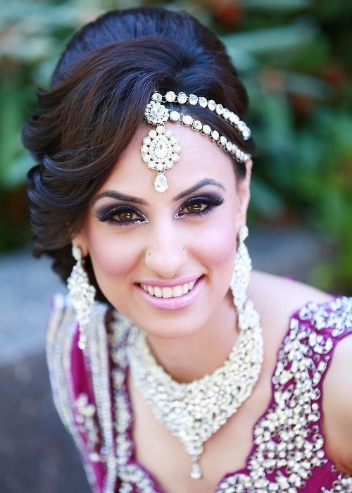 Indian Wedding Hairstyles: The Up Do | Aj Photography, Wedding Up Do Regarding 2018 Indian Wedding Updo Hairstyles (View 11 of 15)