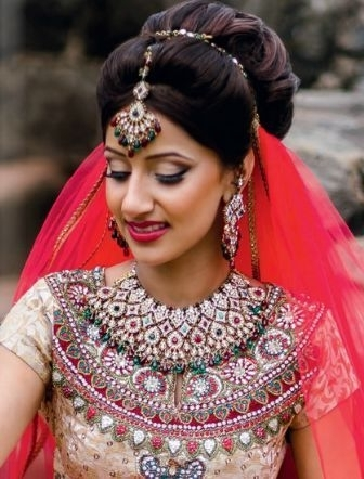 Indian Wedding Hairstyles: Updo | Indian Wedding Hairstyles, Updo Regarding Newest Indian Wedding Updo Hairstyles (View 13 of 15)