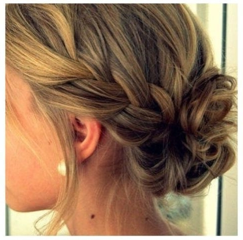 Instagram Insta Glam: Braided Buns | Medium Hair, Updo And Hair Style Within Most Up To Date Loose Updo Hairstyles For Medium Length Hair (View 14 of 15)