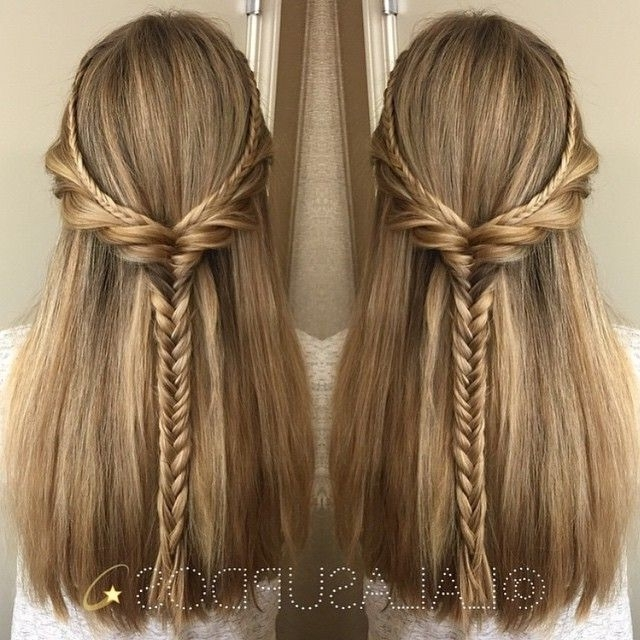 Featured Photo of Straight Half Updo Hairstyles