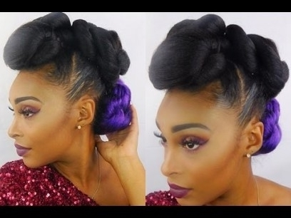 Janelle Monae Inspired Faux Hawk Updo Using 100% Kanekalon Hair with Recent Kanekalon Hair Updo Hairstyles