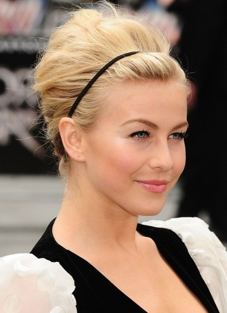 Julianne Hough Formal Updo Hairstyle For Medium Hair - Popular Haircuts in Most Popular Julianne Ho Hairstylesugh Updo Hairstyles