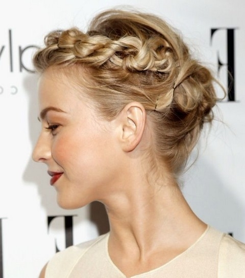 Julianne Hough Hairstyles: Pretty Braided Updo - Pretty Designs inside Most Up-to-Date Pretty Updo Hairstyles