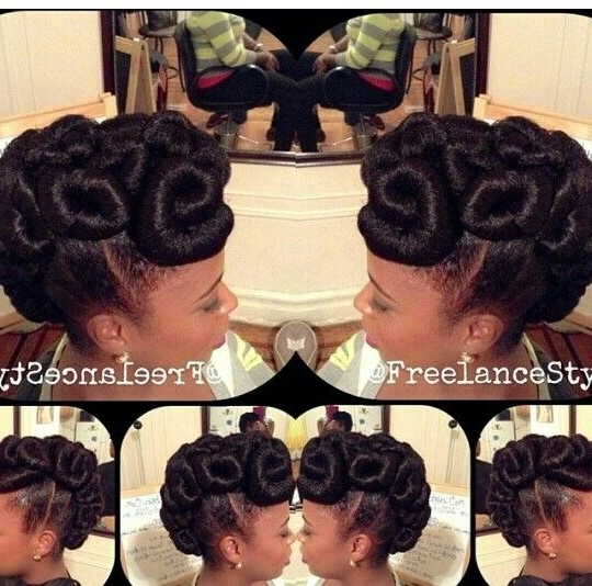Kanekalon Updo | Updos, Single Braid Hairstyles, Ponytails And Inside Best And Newest Updo Hairstyles Using Kanekalon Hair (View 4 of 15)