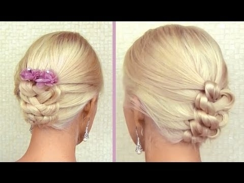 Knot Braid Tutorial For Medium Long Hair Prom Wedding Updo Frisuren Throughout 2018 Knot Updo Hairstyles (View 9 of 15)