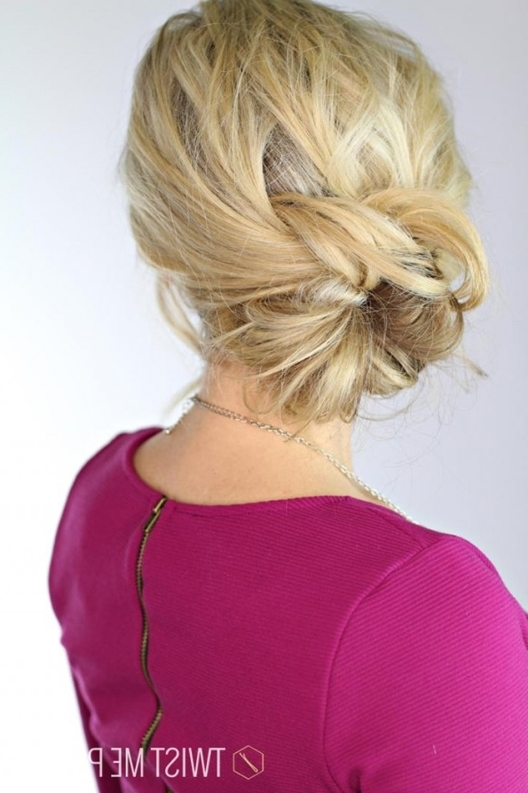 Knotted Updo | Day 25 - Twist Me Pretty Within Knotted Updo intended for Most Up-to-Date Knot Updo Hairstyles