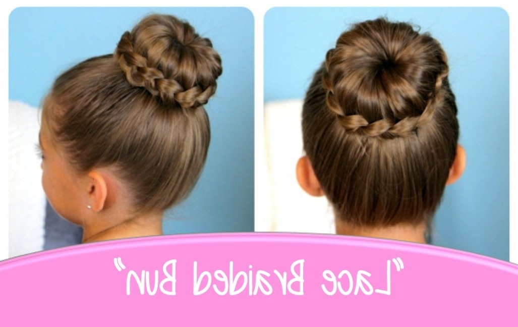 Lace Braided Bun | Cute Updo Hairstyles | Cute Girls Hairstyles Intended For Current Cute Girls Updo Hairstyles (View 14 of 15)