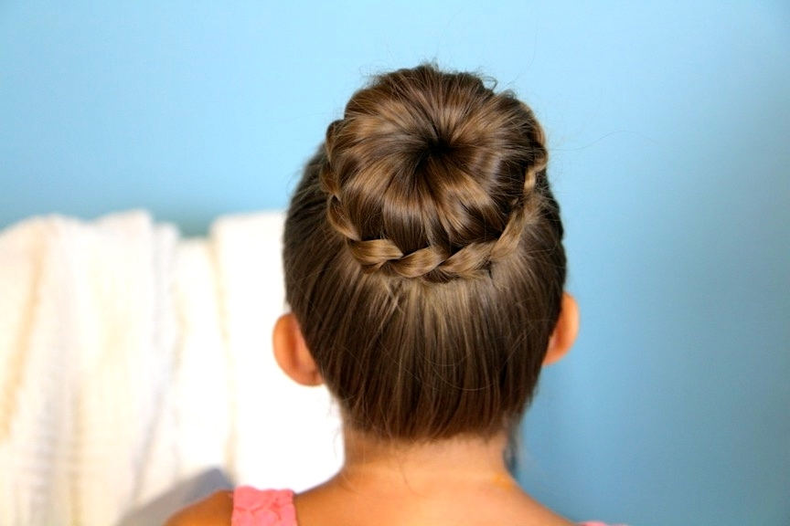 Photo Gallery Of Braided Bun Updo Hairstyles Showing 12 Of 15 Photos