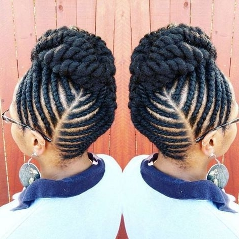 Latest Ghana Weaving Hairstyles 10 | Andersonkatrenia | Pinterest In Recent Flat Twist Updo Hairstyles On Natural Hair (View 6 of 15)