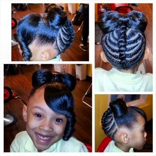Little Black Girl Hairstyles | 30 Stunning Kids Hairstyles Intended Intended For Latest Black Girl Updo Hairstyles (View 6 of 15)