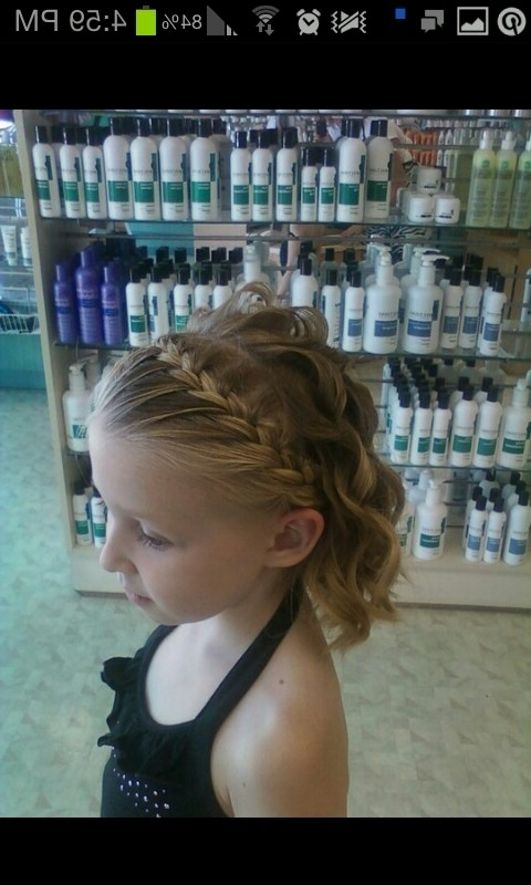 Little Girl Updo, Flower Girl, Flower Girl Hairstyles, Curls, Short With Regard To Recent Updo Hairstyles For Little Girl With Short Hair (View 2 of 15)