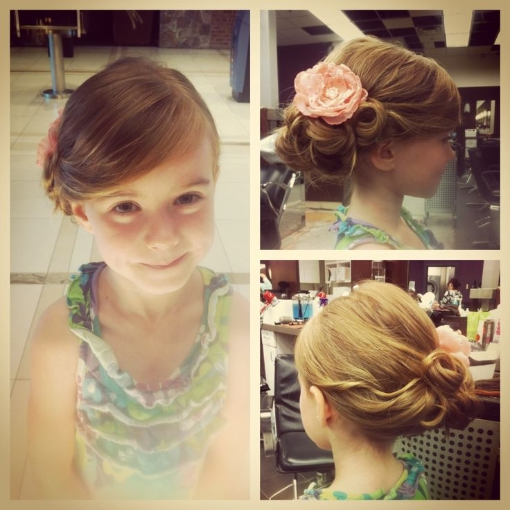 Little Girl Wedding Hair – Google Search | W Flower Girls & Ring Pertaining To Most Popular Updo Hairstyles For Little Girl With Short Hair (View 10 of 15)