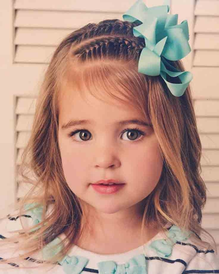 Little Girls Hairstyles For Eid 2018 In Pakistan | Fashioneven For Current Little Girl Updos For Short Hair (View 10 of 15)