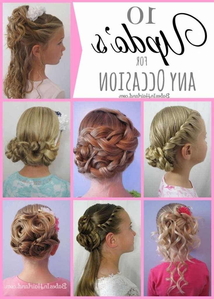 Image Gallery Of Little Girl Updo Hairstyles View 15 Of 15 Photos