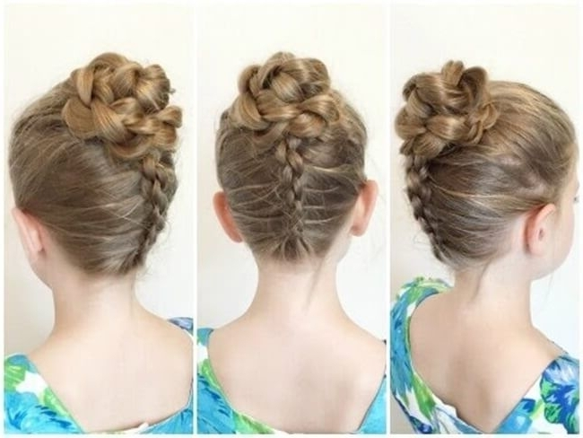 Little Girls Updo Hairstyles – Jcashing With Best And Newest Little Girl Updo Hairstyles (View 6 of 15)