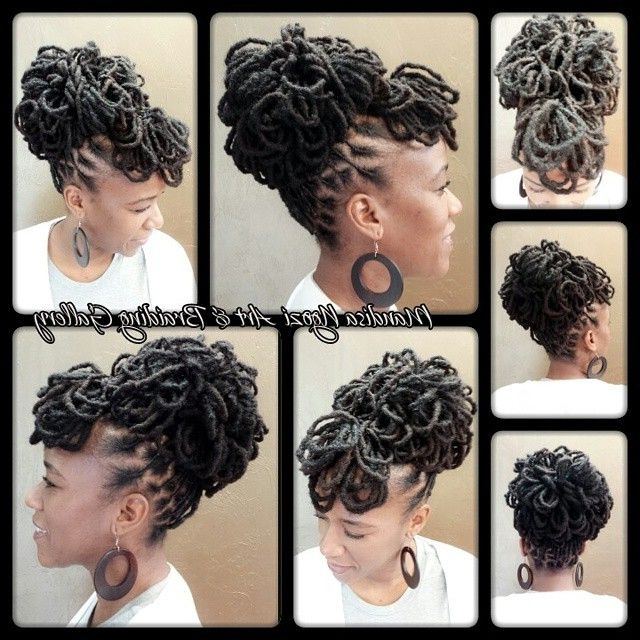 Loc Petals Updo | Stylists | Pinterest | Updo, Locs And Dreads Regarding Most Popular Updo Locs Hairstyles (View 14 of 15)