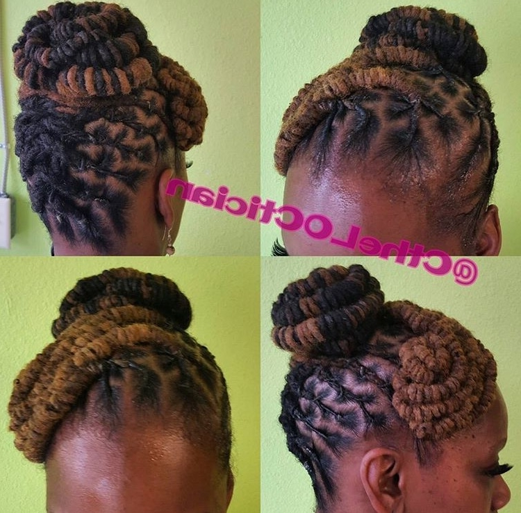 Image Gallery Of Updo Locs Hairstyles View 11 Of 15 Photos