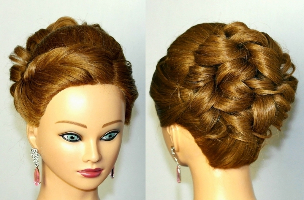 Long Curly Updo Hairstyles Bridal Curly Updo Hairstyle For Medium Within Most Recent Curly Updo Hairstyles For Medium Hair (View 9 of 15)