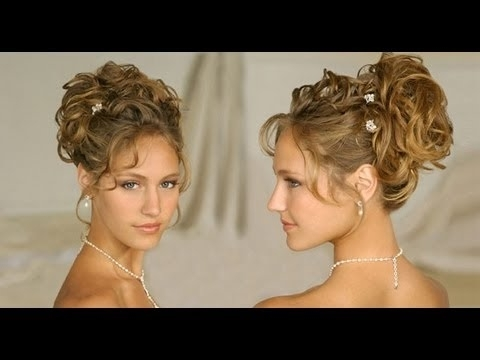 Long Hair Hairstyle:updos For Curly Hair Wedding/homecoming/prom Pertaining To Newest Curly Bun Updo Hairstyles (View 7 of 15)