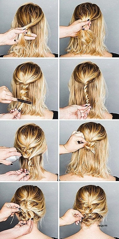 Long Hairstyles: Awesome Updo Hairstyles For Long Fine Hair Updo Inside Best And Newest Easy Updo Hairstyles For Fine Hair Medium (View 13 of 15)