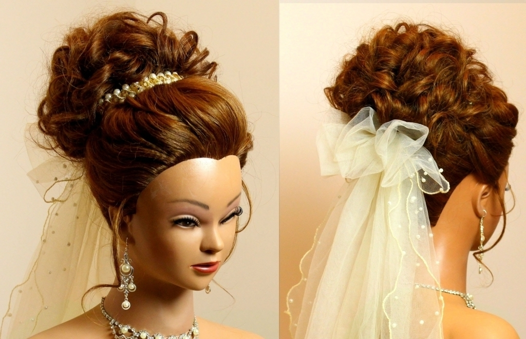 Long Updo Hairstyles For Weddings Bridal Wedding Updo Hairstyle For Regarding Recent Updo Hairstyles For Black Hair Weddings (View 11 of 15)