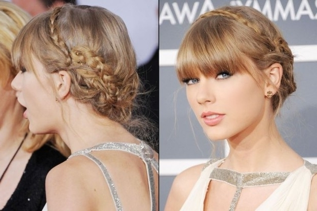Looking For Updo Hairstyles With A Fringe With Most Up To Date Updo Hairstyles With Fringe Bangs (View 8 of 15)