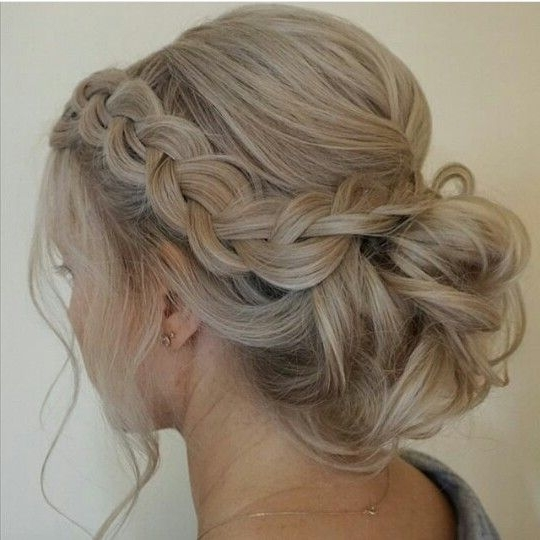 Loose Braid And Up Do | Updos Loose | Pinterest | Prom, Hair Style Within Current Braided Hair Updo Hairstyles (View 15 of 15)