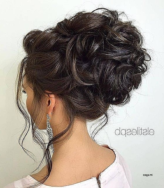 Loose Curly Bun Hairstyles New Loose Curly Updo Wedding Hairstyle Inside Best And Newest Loose Updos For Curly Hair (View 6 of 15)