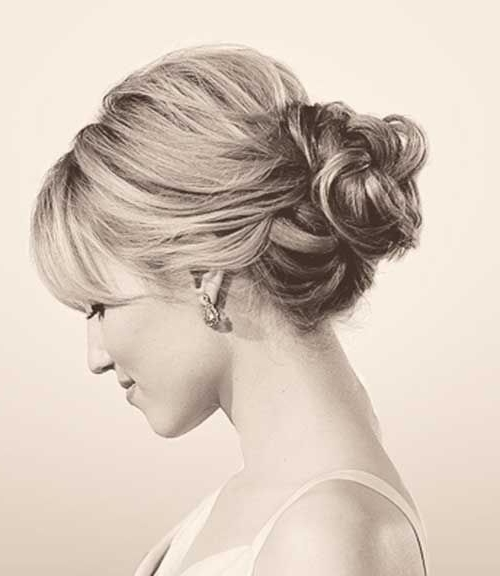 Loose Low Bun Updo (500×576) | Weddings | Pinterest | Bun Intended For Most Up To Date Low Bun Updo Hairstyles For Wedding (View 14 of 15)