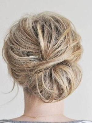 Loose Simple Updos For Medium Hairjaclyn | Upstyles | Pinterest Within 2018 Soft Updo Hairstyles For Medium Length Hair (View 11 of 15)