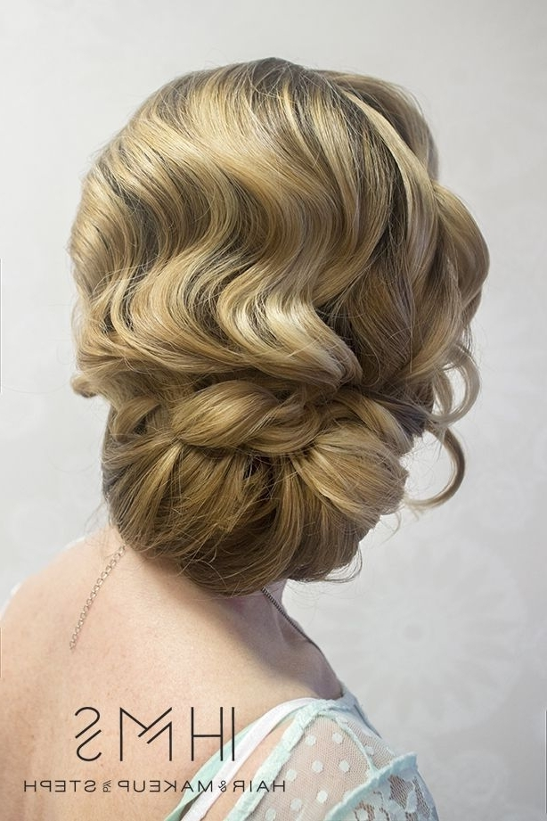 Love The Finger Wave Effect Of This Romantic Wedding Updo! ~ We In Most Current Finger Waves Long Hair Updo Hairstyles (View 13 of 15)