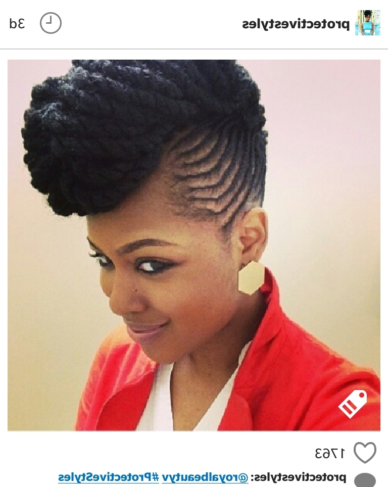 Love This Cornrow/marley Twist Updo Combo | Updos | Pinterest For Best And Newest Marley Twist Updo Hairstyles (View 12 of 15)