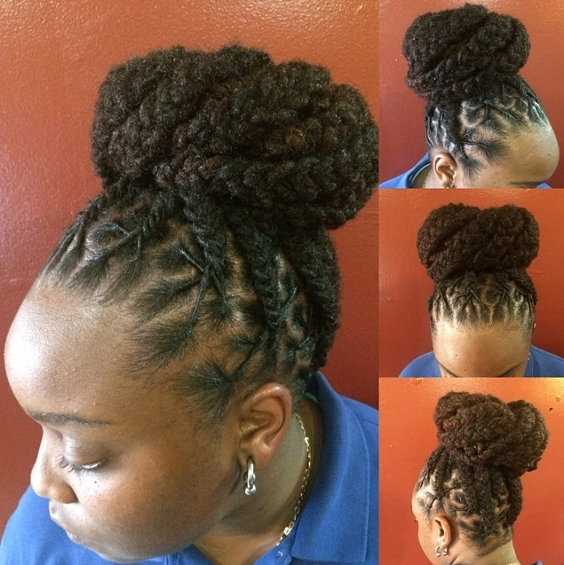 Love This Loc Updo! | Black Women Natural Hairstyles For 2018 Lock Updo Hairstyles (View 6 of 15)