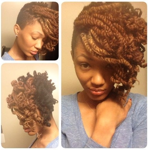 Lovely Kinky Twist Updo @theyokoproject | Updo, Community And Galleries For Most Current Marley Twist Updo Hairstyles (View 10 of 15)